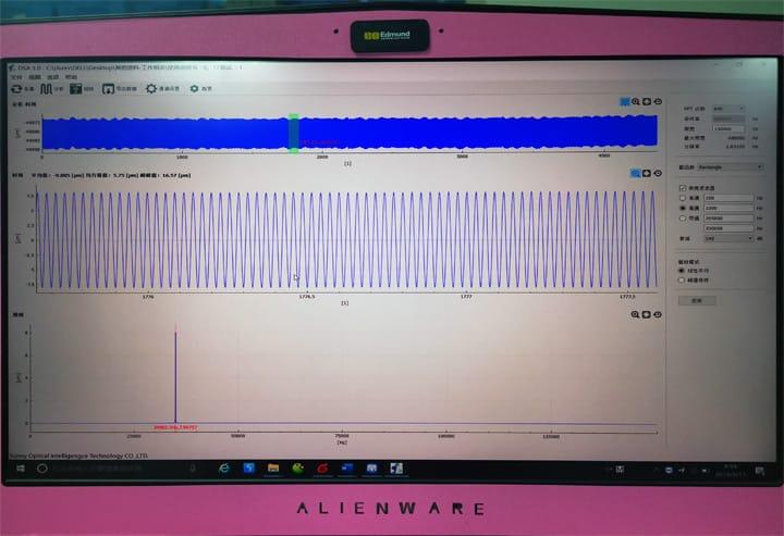 波形检测,组装后换能器具有良好的波形结构