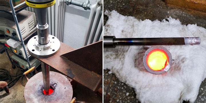 处理完铝熔液进行冷却