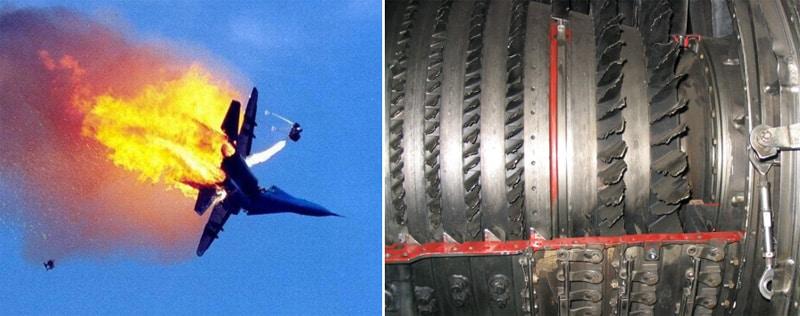 失事飞机和发动机