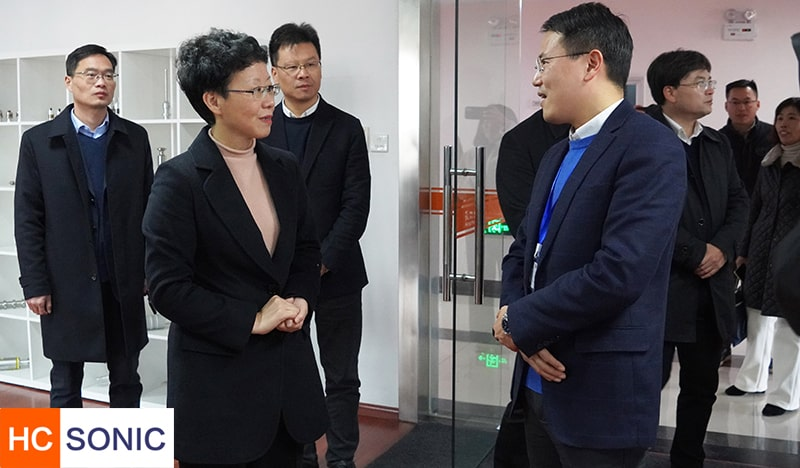 区委书记吴玉凤来我公司视察指导